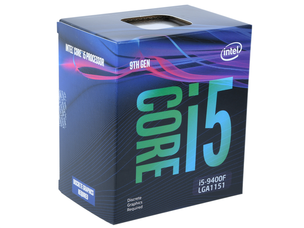 Процессор Intel Core i5-9400F BOX (TPD 65W, 6/6, Base 2.9GHz - Turbo 4.1 GHz, 9Mb, LGA1151 (Coffee Lake)) цена и фото