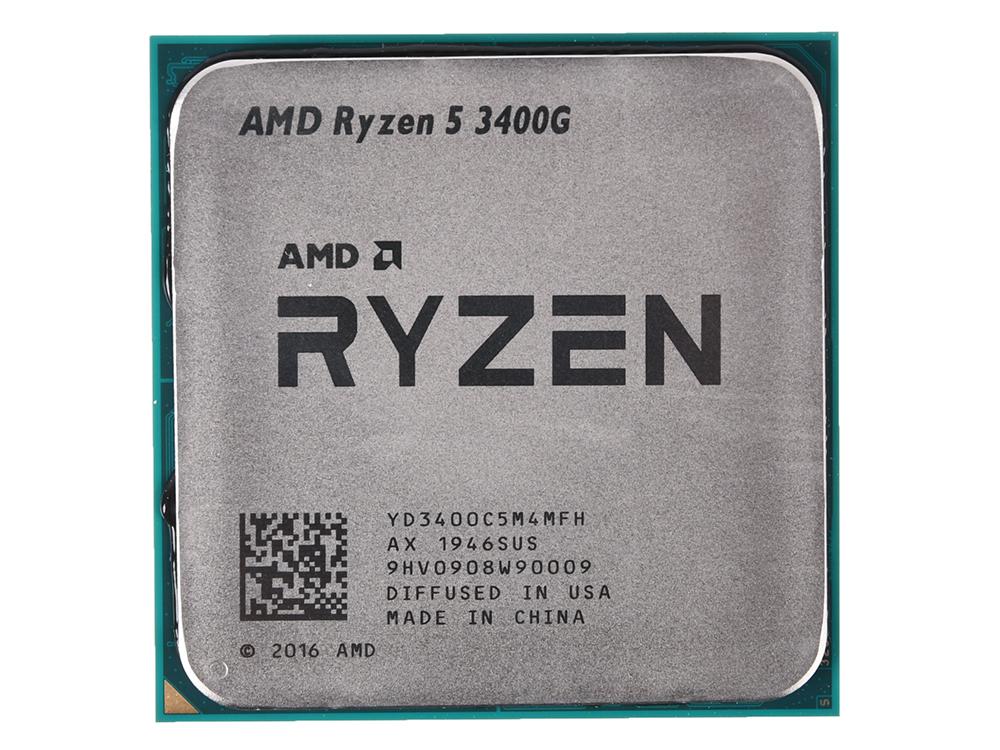 Процессор AMD Ryzen 5 3400G OEM Radeon RX Vega 11 Graphics 65W, 4C/8T, 4.2Gh(Max), 6MB(L2+L3), AM4 (YD3400C5M4MFH)