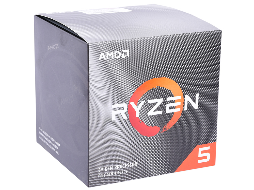 Картинка для Процессор AMD Ryzen 5 3600X BOX Wraith Spire cooler (95W, 6C/12T, 4.4Gh(Max), 36MB(L2+L3), AM4) (100-100000022BOX)