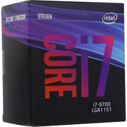 Процессор Intel Core i7-9700 BOX TPD 65W, 8/8, Base 3.0GHz - Turbo 4.7GHz, 12Mb, LGA1151 (Coffee Lake) цена 2017