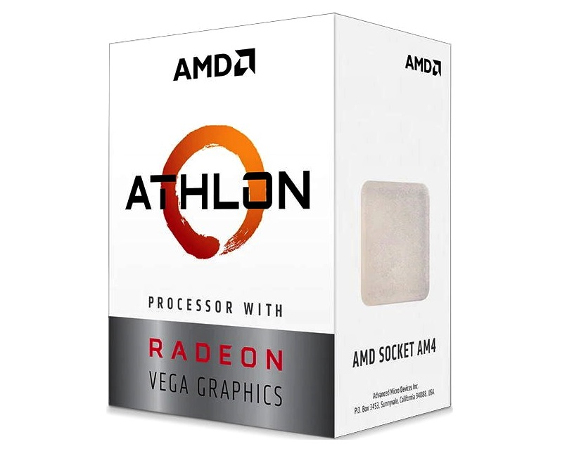 Процессор AMD Athlon 3000G BOX 35W, 2C/4T, 3.5Gh(Max), 5MB(L2+L3), AM4 (YD3000C6FHBOX) процессор amd athlon x4 840k fm2 ad840xybjabox 3 1ghz 5000mhz box