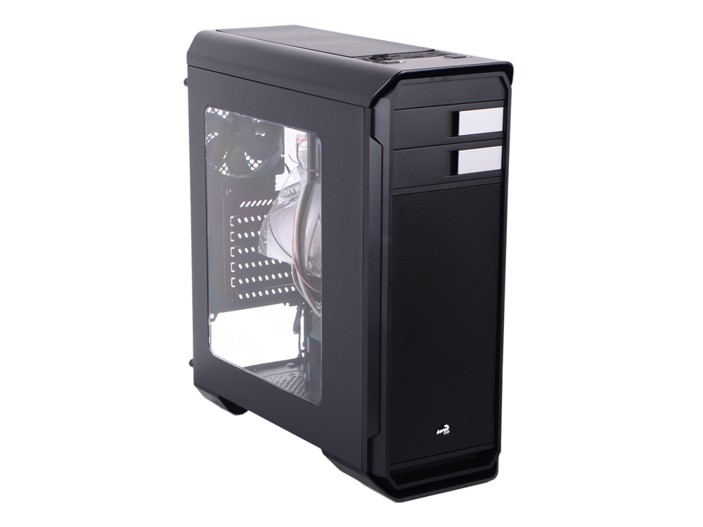 Aero-500 Window Black + card reader корпус aerocool aero 500 window white без бп