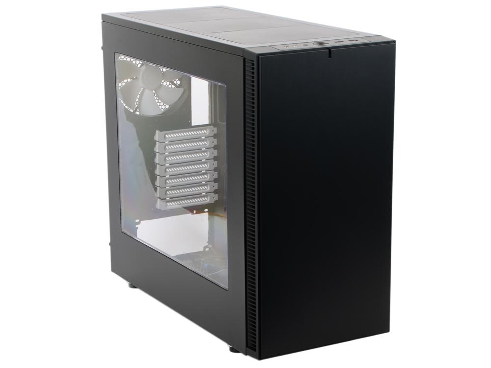Корпус mini-ITX Fractal Design Define S Window Без БП чёрный burgundy v neck flounced design self tie waist mini dress
