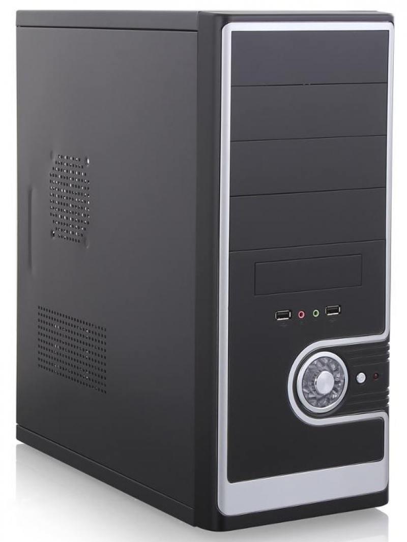 Корпус ATX Super Power 3029C 500 Вт чёрный серебристый цены