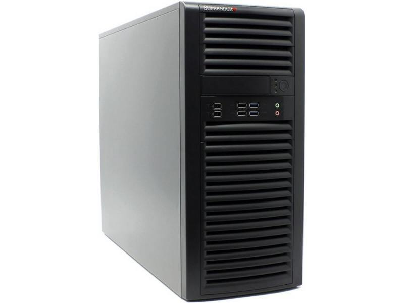 лучшая цена Корпус Supermicro CSE-732D4F-903B Mid-Tower chassis, up 4x3.5 Cabled, 2x FAN (Front and Rear), E-ATX, 1x900W Fixed; support motherboard X10, X11, C7 s