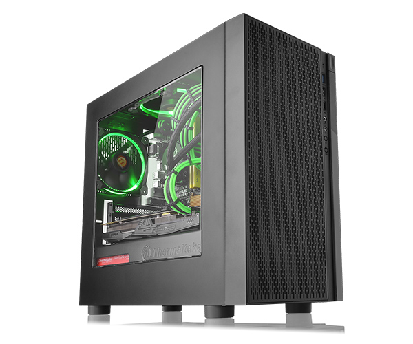 Корпус Thermaltake Versa H18 Black w/o PSU,Window,CA-1J4-00S1WN-00 accord a 301b w o psu black
