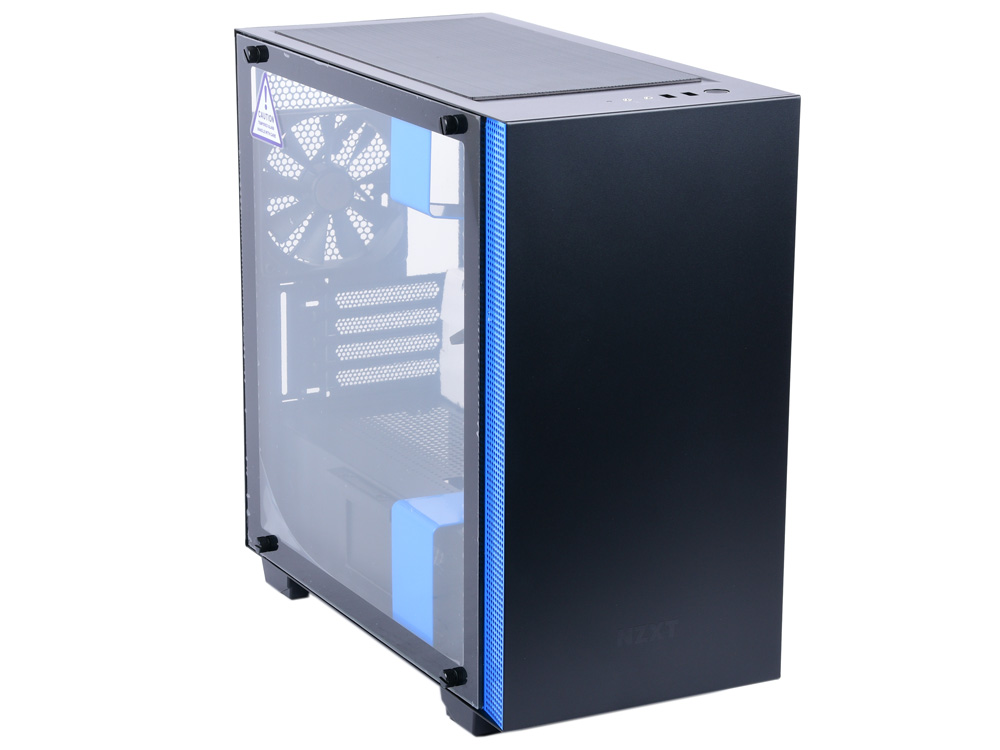 Корпус microATX NZXT H400I Без БП чёрный синий CA-H400W-BL nzxt nzxt manta