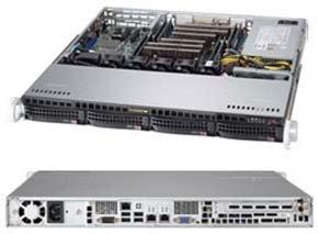 Корпус SuperMicro CSE-813MFTQC-505CB 500W корпус supermicro cse 846be1c r1k23b 2x1200w черный