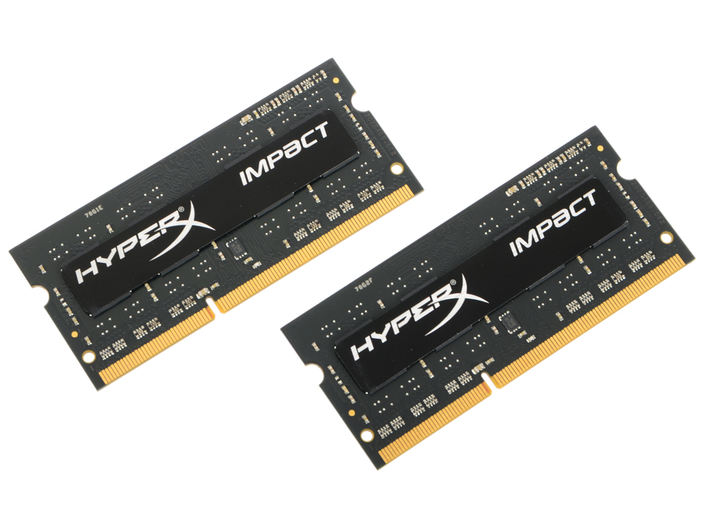 Оперативная память для ноутбуков Kingston HyperX Impact HX321LS11IB2K2/8 SO-DIMM 8GB DDR3 2133MHz SO-DIMM 204-pin/PC-17000/CL11 цена