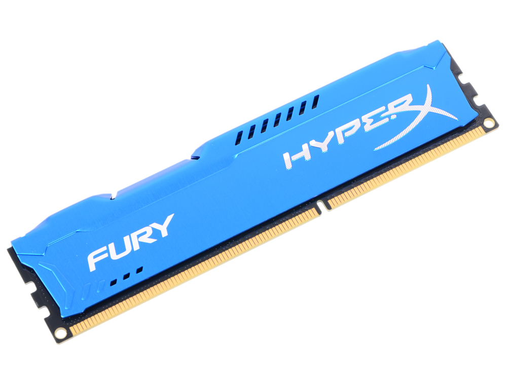 Оперативная память Kingston HyperX Fury Blue HX313C9F/4 DIMM 4GB DDR3 1333MHz DIMM 240-pin/PC-10600/CL9 оперативная память 2gb 1x2gb pc3 10600 1333mhz ddr3 dimm cl9 foxline fl1333d3u9s1 2g