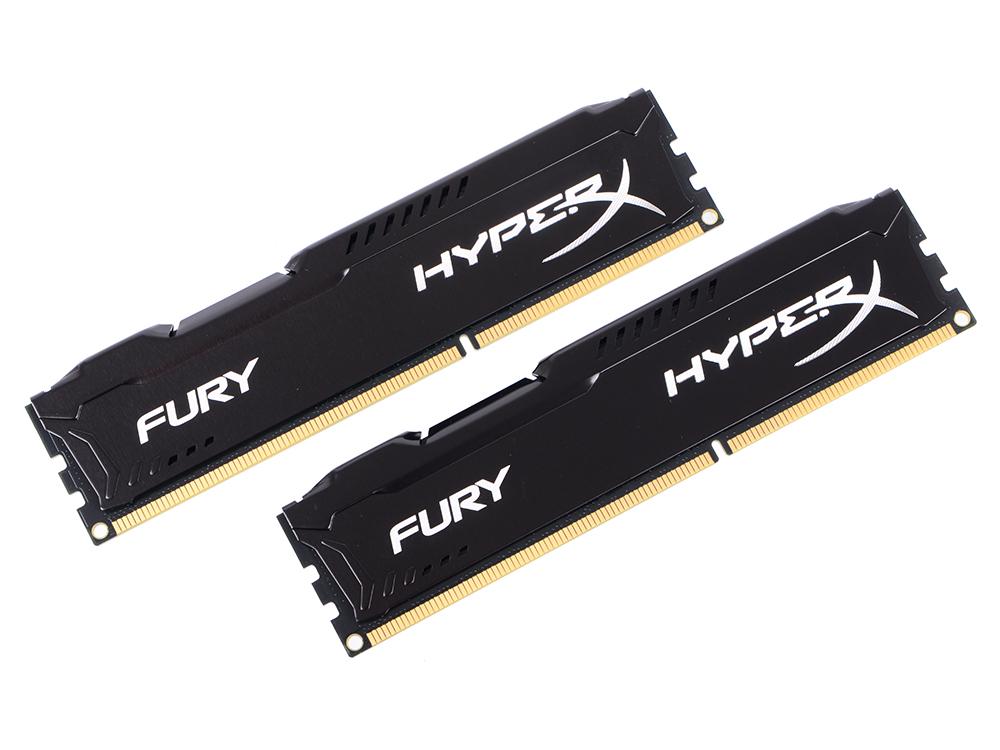 Оперативная память Kingston HX313C9FBK2/8 HyperX FURY DIMM 8Gb (2x4Gb) DDR3 1333MHz DIMM 240-pin/PC-10600/CL9 цена