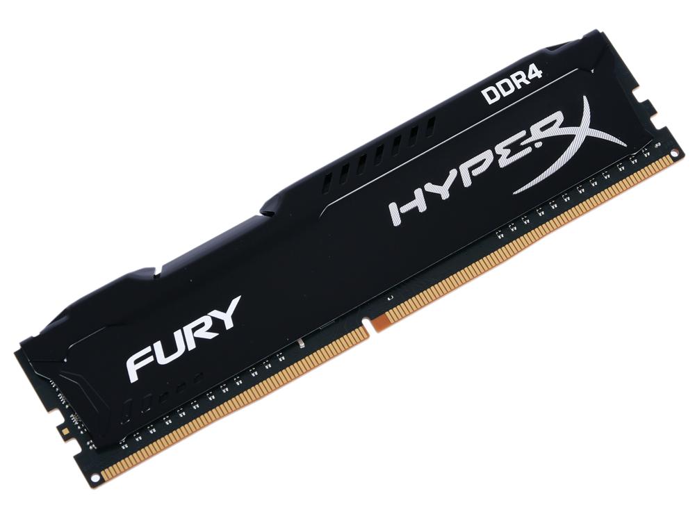 Оперативная память Kingston HyperX Fury HX434C19FB2/8 DIMM 8GB DDR4 3466MHz DIMM 288-pin/PC-27700/CL19 оперативная память kingston hyperx fury hx434c19fr2 8 dimm 8gb ddr4 3466mhz dimm 288 pin pc 27700 cl19