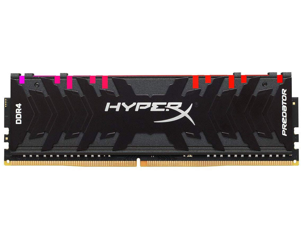 Оперативная память Kingston HyperX Predator RGB HX432C16PB3A/16 DIMM 16GB DDR4 3200MHz DIMM 288-pin/PC-25600/CL16 crucial 16gb kit 8gbx2 ddr4 3600mt s cl16 unbuffered dimm 288 pin ballistix black