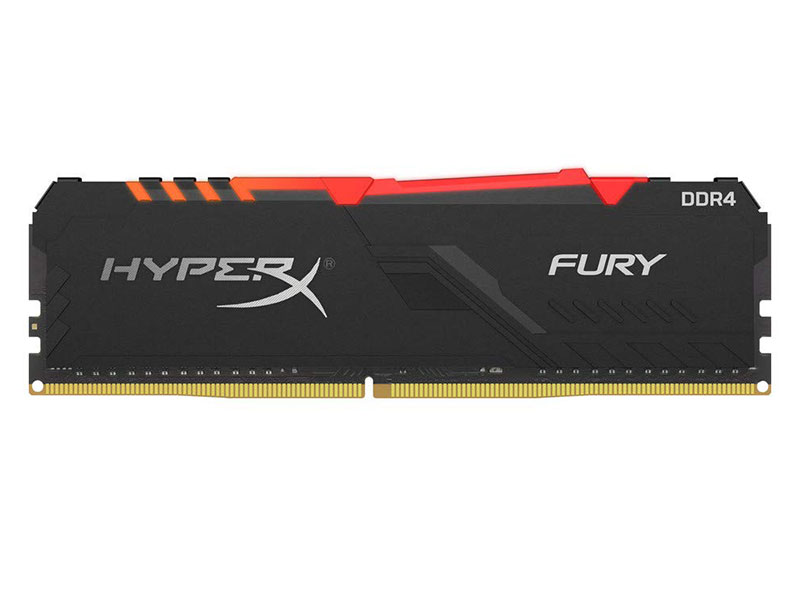 Оперативная память Kingston HyperX FURY RGB HX426C16FB3A/16 DIMM 16GB DDR4 2666MHz DIMM 288-pin/PC-21300/CL16 crucial 16gb kit 8gbx2 ddr4 3600mt s cl16 unbuffered dimm 288 pin ballistix black