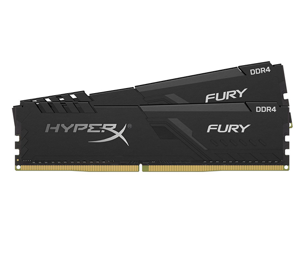 Оперативная память Kingston HyperX Fury Black HX426C16FB3K2/32 DIMM 32GB (2x16Gb) DDR4 2666MHz DIMM 288-pin x 2/PC-21300/CL16 crucial 16gb kit 8gbx2 ddr4 3600mt s cl16 unbuffered dimm 288 pin ballistix black