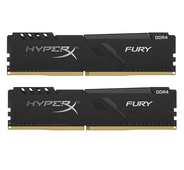 Оперативная память Kingston HyperX Fury Black HX424C15FB3K2/16 DIMM 16GB (2x8Gb) DDR4 2400MHz DIMM 288-pin x 2/PC-19200/CL15 оперативная память kingston hyperx fury hx434c19fr2 8 dimm 8gb ddr4 3466mhz dimm 288 pin pc 27700 cl19