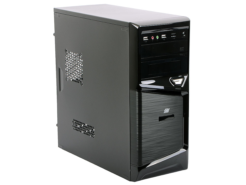Компьютер OLDI Computers Office 136 (0481820) Системный блок Black / AMD A4-6300 / 4GB / 500GB / AMD HD 8370D / DVD±RW / Win10 ого pc office intel core i5 8400 2 80ghz 4gb 500gb dvd rw 450w