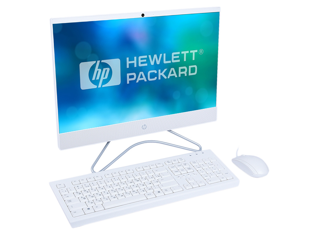 Моноблок HP 22-c0025ur (4GS90EA) i3-8130U (2.2) / 4GB / 1TB+16Gb Intel Optane / 21.5 FHD IPS / NV GF MX110 2GB / WiFi / BT / Kb+M / Win10 (White) ноутбук hp 15 da0046ur 4gk51ea intel n5000 4gb 500gb nv mx110 2gb 15 6 dvd win10 silver