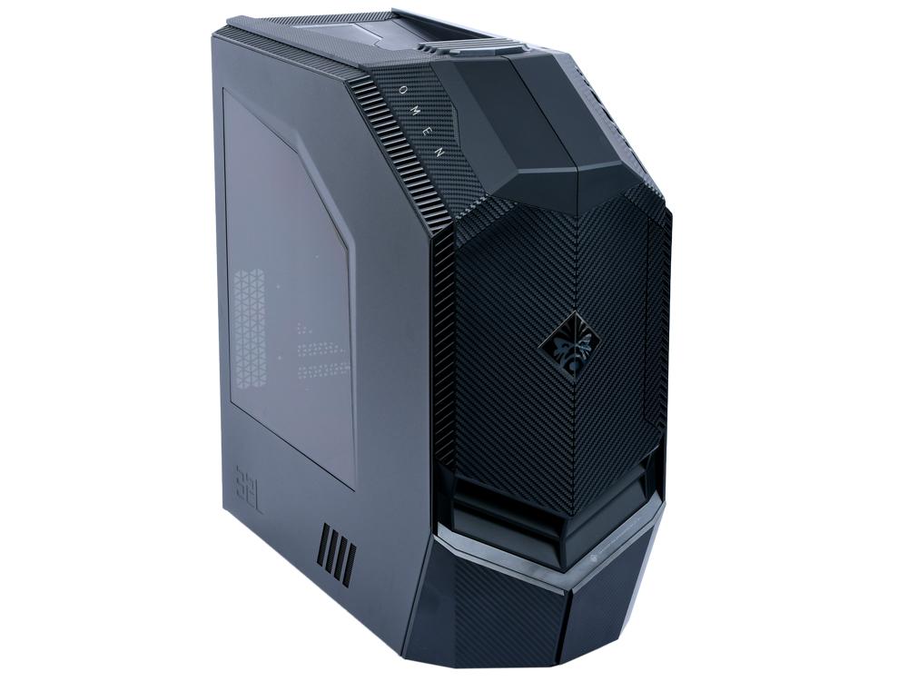 Компьютер HP Omen 880-115ur (3EQ93EA) Black / i7 8700 3.2GHz / 16GB / 1TB + 128GB SSD / GTX1070 8GB / DVD-RW / Win 10 Home персональный компьютер hp bundles 400 g3 [1qn65es] dm i3 6100 8gb 128gb ssd w10pro hp v213a 20 7 monitor