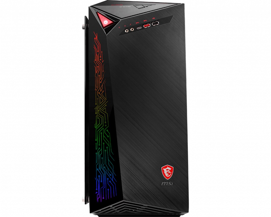 Компьютер MSI Infinite X Plus 9SD-286RU Black / i7 9700K 3.6GHz / 16GB / 2TB + 256GB SSD / RTX2070 8GB / DVD-RW / Win 10 Home ноутбук msi gs73 7re 015ru core i7 7700hq 8gb 2tb 128gb ssd nv gtx1050ti 4gb 17 3 fullhd dvd win10 black