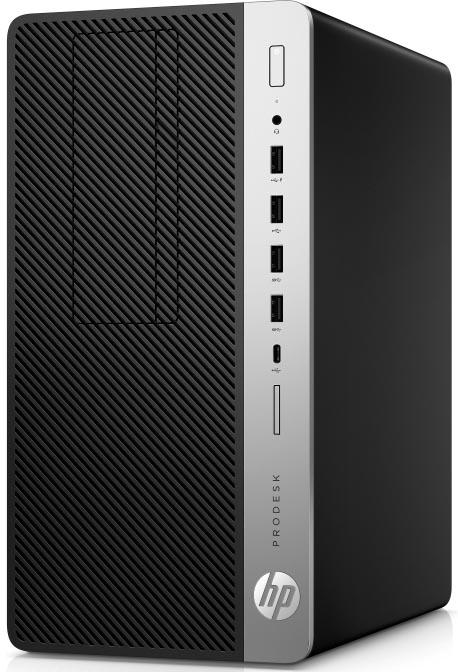 Компьютер HP ProDesk 600 G4 MT (3XW80EA) Системный блок Black/Silver / Core i3-8100 3.6GHz / 8GB / 1TB / Интегрирована в процессор Intel UHD Graphics 630 / DVD±RW / Win 10 Pro все цены