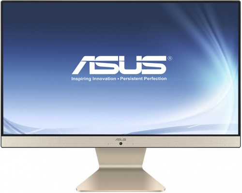 Моноблок ASUS V222UAK-BA085D (90PT0261-M04540) Black/Gold / Core i5-8250U 1.6GHz / 4GB / 1TB / Intel UHD Graphics 620 / noDVD / DOS моноблок msi pro 24x 7m 032ru 23 6 fullhd intel 4415u 4gb 1tb kb m dos black