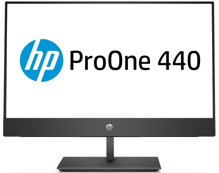 Моноблок HP ProOne 440 G4 (4YV98ES) Black / Intel Celeron G4900T (Coffee Lake, 2.9 ГГц, 2Mb, LGA1151) / 4GB / 500GB / Intel UHD Graphics 610 / DVD±RW / DOS ого pc office intel core i5 8400 2 80ghz 4gb 500gb dvd rw 450w