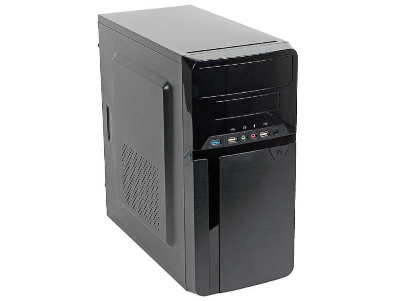 Компьютер OLDI Computers Office 130 (0702891) Системный блок Black / Core i3-9100F 3.6GHz / 8GB / 128GB SSD / GeForce GT 710 2GB / noDVD / Win 10 Pro цены