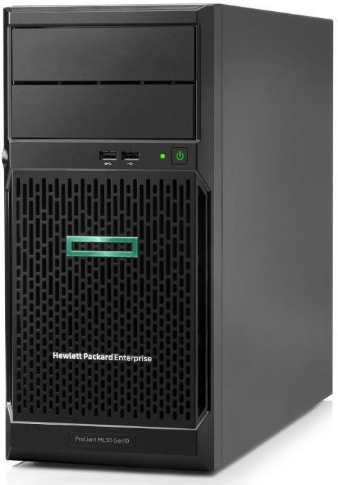 цена на Сервер HPE Proliant ML30 Gen10 (P06781-425) E-2124, 1x8GB, No HDD (4/6x3.5 NHP), S100i (RAID 1/1/10/5), No ODD, 2x1GbE, iLO std, 1x350W, Tower