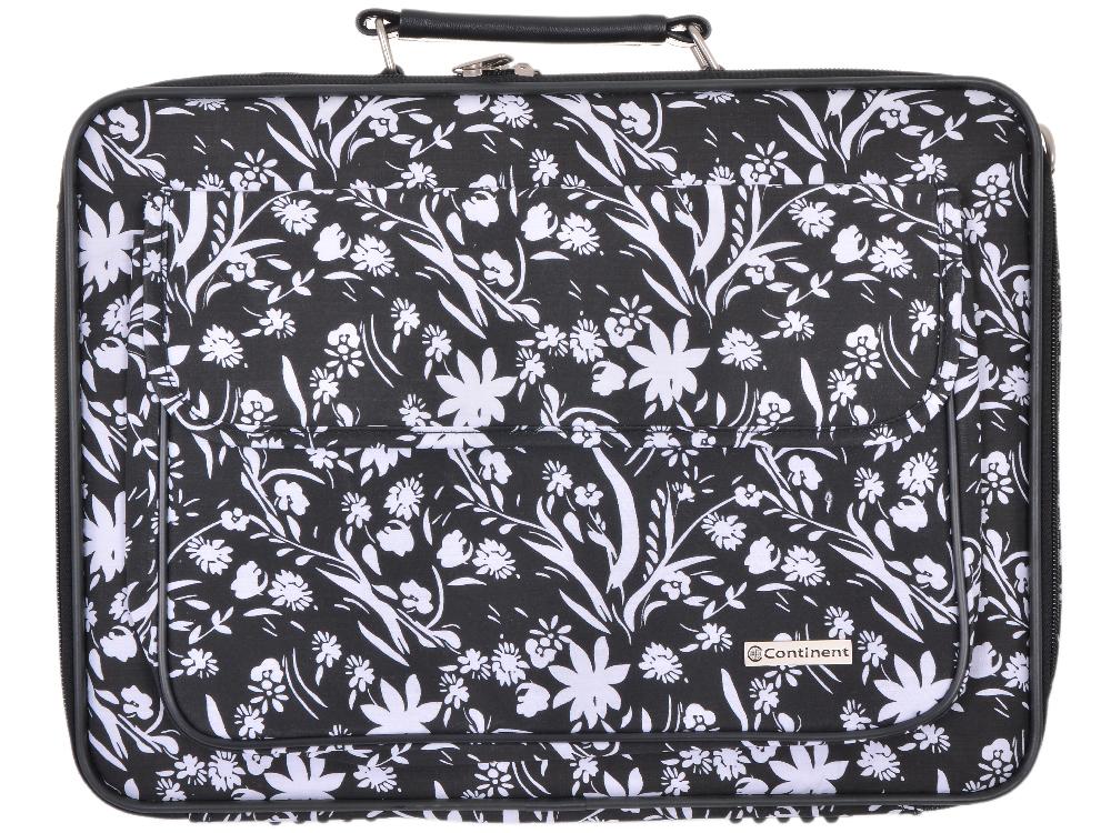 Сумка для ноутбука Continent CC-03 до 15,4 (нейлон, White Flowers, 41 x 31 x 9 см) сумка для ноутбука continent cc 02 до 15 6 нейлон cranberry 41 x 31 x 9 см