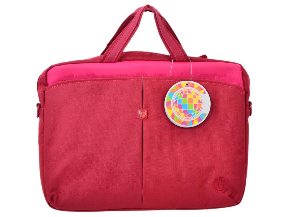 Сумка для ноутбука Continent CC-013 до 13,3 Cranberry (нейлон, Cranberry, 35 х 26 х 4 см.) цена