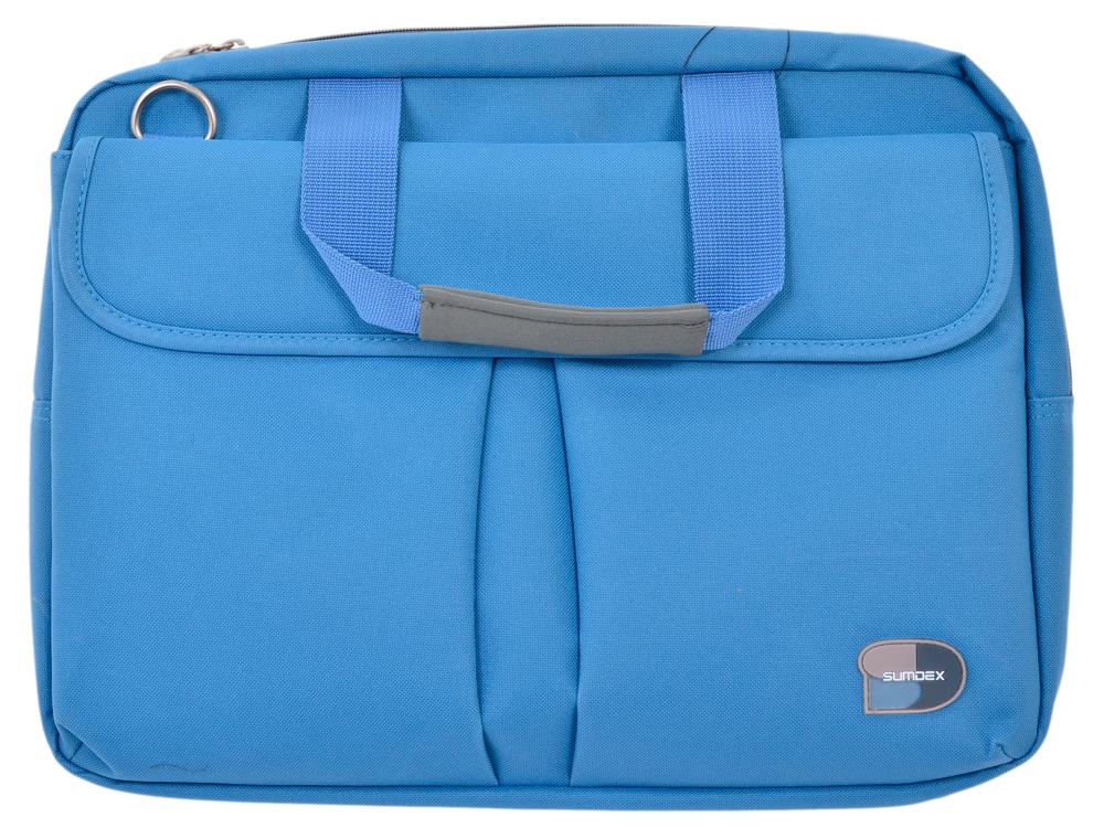 Сумка для ноутбука Sumdex PON-315BU Notebook Brief до 15.6-16 (нейлон/полиэстер, синий, 40 x 29,8 x 7,6 см.) сумка для ноутбука 15 sumdex pon 351bu синий