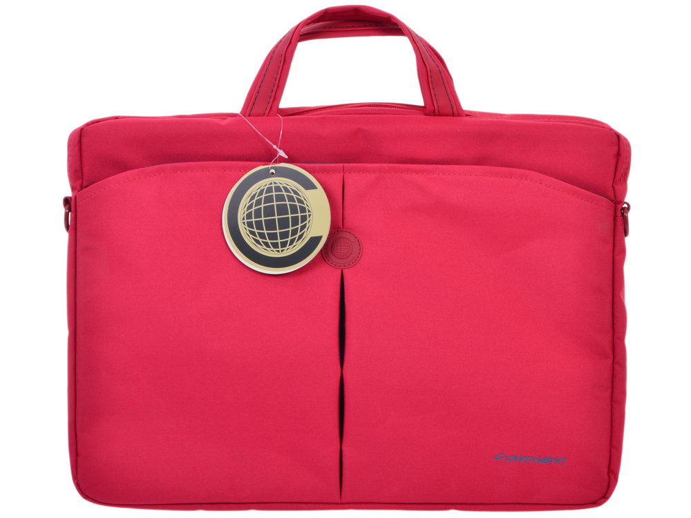 Сумка для ноутбука Continent CC-01 Red до 15,6 (нейлон, 41 х 29 x 4 см) сумка для ноутбука continent cc 02 до 15 6 нейлон cranberry 41 x 31 x 9 см