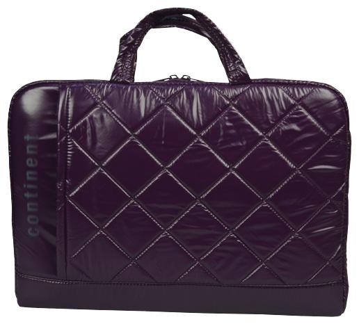 Сумка для ноутбука Continent CC-075 до 15,6 (полиэстр/пвх, Violet, 38,5 x 25,5 x 3,8 см.) сумка для ноутбука continent cc 037 до 15 6 16 полиэстр эко кожа black 38 x 28 5 x 4 2 см