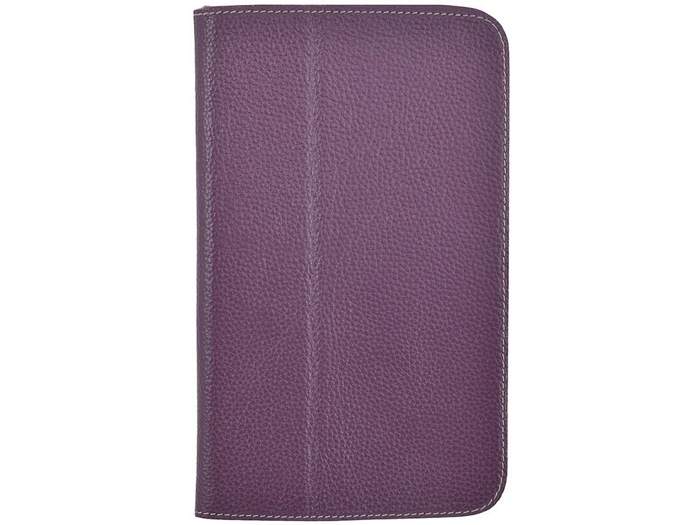 Чехол Jet.A SC8-26 для планшета Samsung Galaxy Tab4 8 из натуральной кожи, Фиолетовый/Серый интерьер чехол jet a sc8 7 для samsung galaxy tab 4 8 чёрный