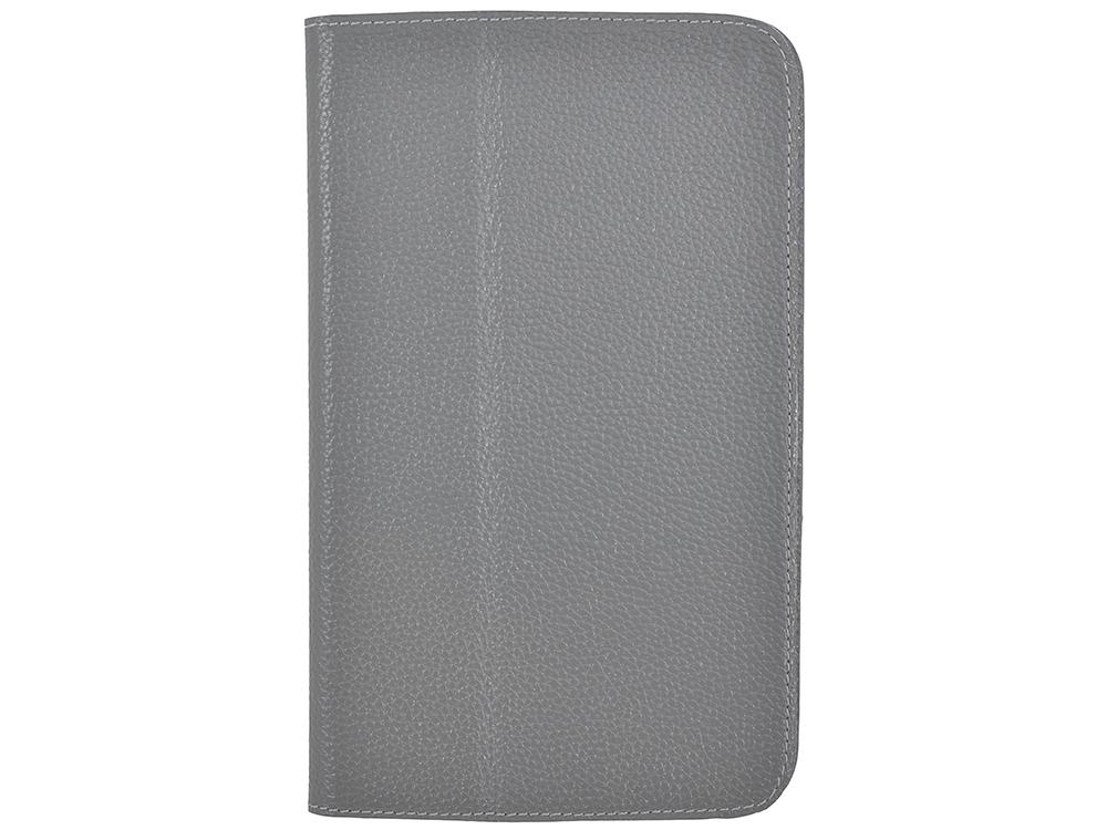 Чехол Jet.A SC8-26 для планшета Samsung Galaxy Tab4 8 из натуральной кожи, Серый/Серый интерьер чехол jet a sc8 7 для samsung galaxy tab 4 8 чёрный