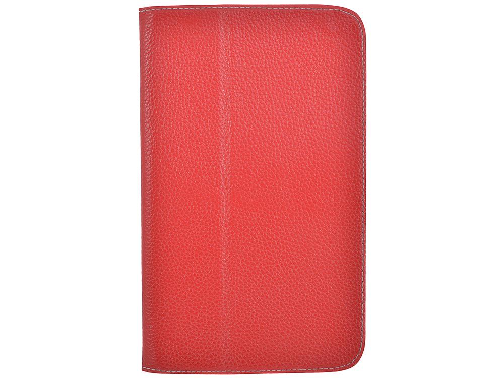 Чехол Jet.A SC8-26 для планшета Samsung Galaxy Tab4 8 из натуральной кожи, Красный/Серый интерьер чехол jet a sc8 7 для samsung galaxy tab 4 8 чёрный