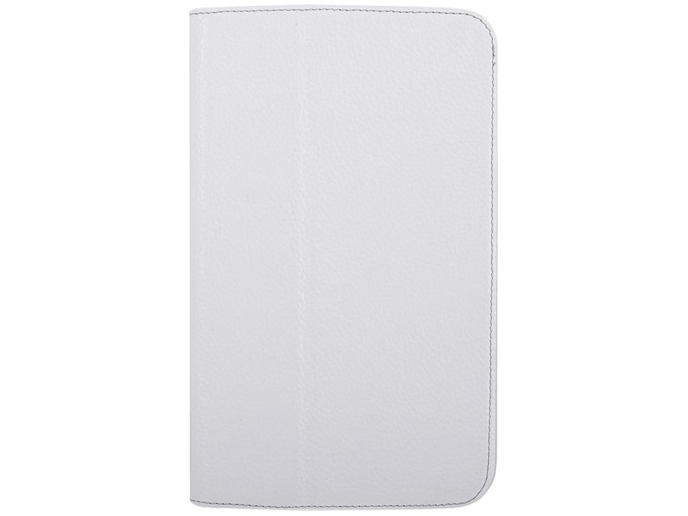 Чехол Jet.A SC8-26 для планшета Samsung Galaxy Tab4 8 из натуральной кожи, Белый/Серый интерьер чехол jet a sc8 7 для samsung galaxy tab 4 8 чёрный
