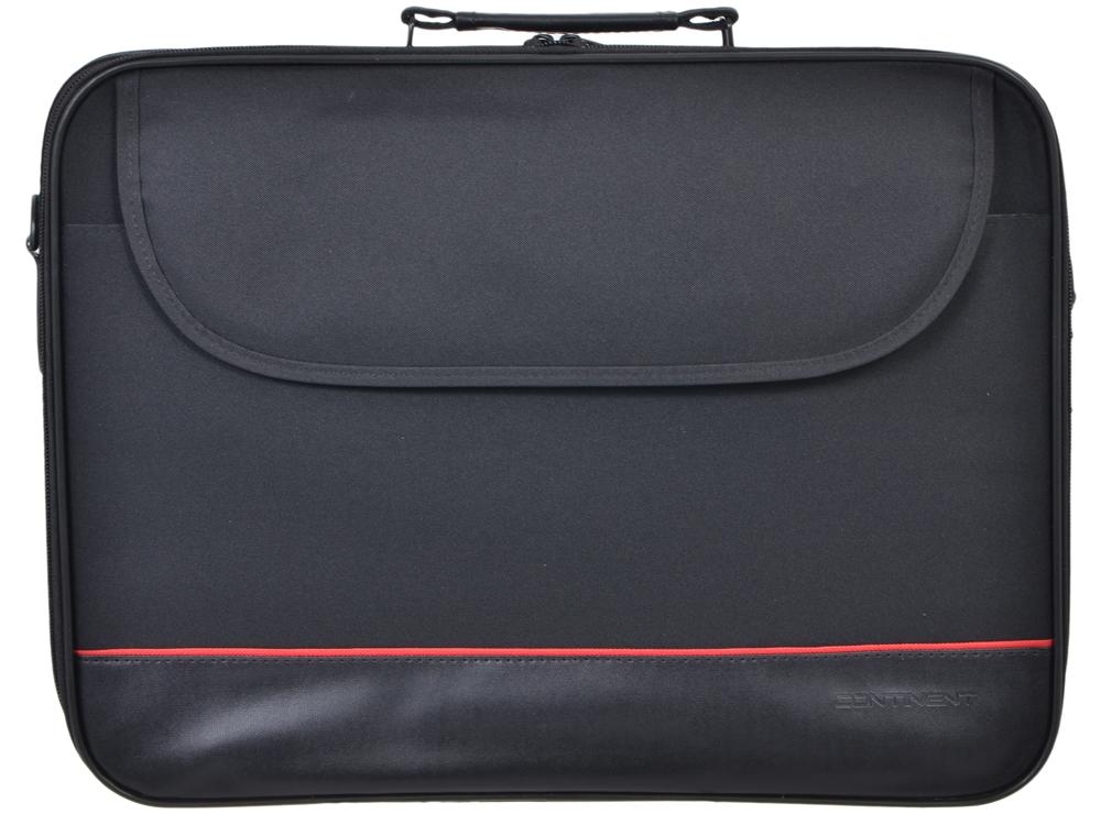 Сумка для ноутбука Continent CC-100 BK до 15,6 (черный, полиэстр, 42 x 31,5x 7 см.) сумка для ноутбука continent cc 037 до 15 6 16 полиэстр эко кожа black 38 x 28 5 x 4 2 см