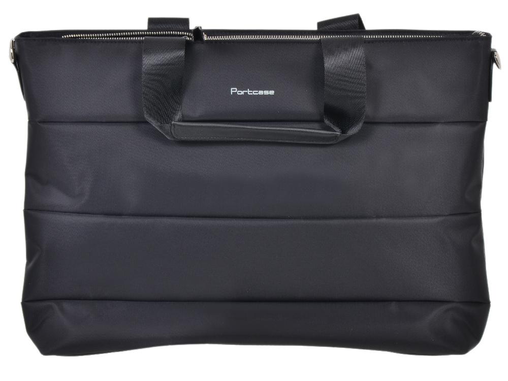 Сумка для ноутбука PORTCASE KCB-70 до 15,6 (женская, черный, полиэстр, 43 x 31,4 x 7,8 см.)
