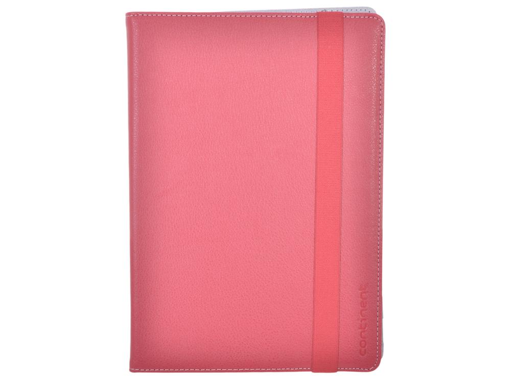 цена Чехол-книжка универсальный Continent UTH-102 RD Pink флип, искусственная кожа онлайн в 2017 году