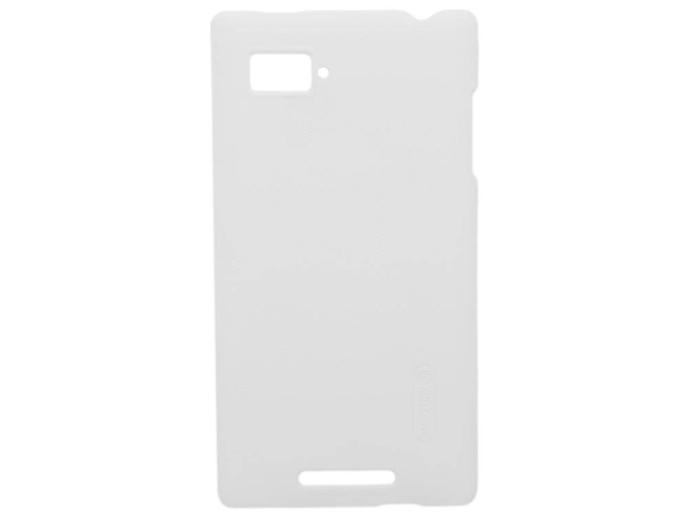 Чехол для смартфона Lenovo K910 (VIBE Z) Nillkin Super Frosted Shield Белый нейлон nillkin samsung s8plus tpu прозрачный мягкий чехол чехол телефонный чехол белый