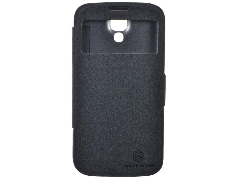 Чехол для смартфона Galaxy S4 Nillkin Fresh series Черный чехол для смартфона lenovo a516 nillkin fresh series leather case черный