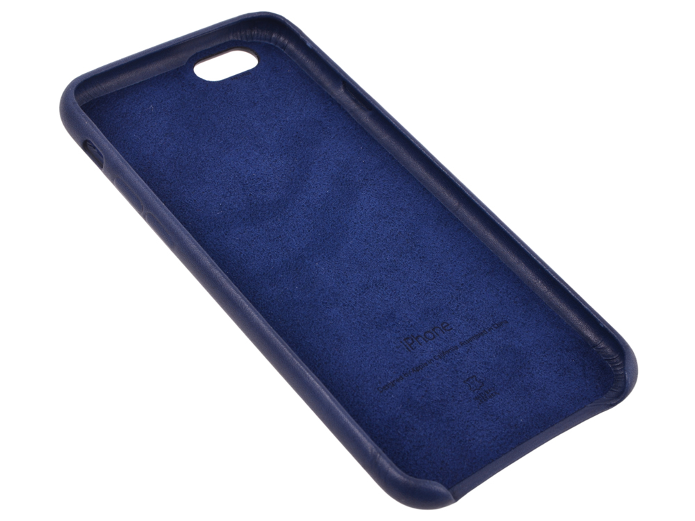Чехол - обложка iPhone 6s Leather Case Midnight Blue mcintosh w burning midnight
