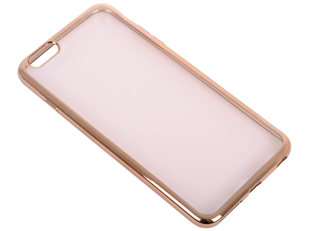 Силиконовый чехол с рамкой для iPhone 6 Plus/6S Plus DF iCase-03 (gold) чехол аккумулятор df ibattery 21 для iphone 6s plus iphone 6 plus чёрный