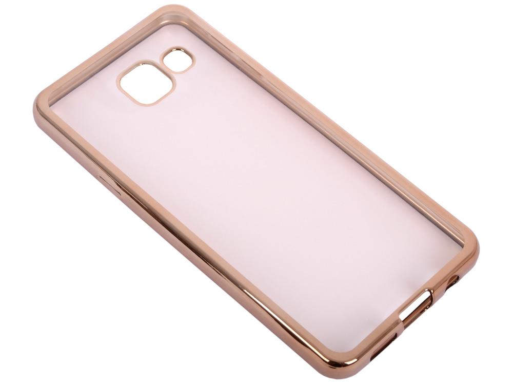 Силиконовый чехол с рамкой для Samsung Galaxy A3 (2016) DF sCase-22 (gold) розовый медведь стиль тиснение классический откидная крышка с функцией подставки и слот для кредитных карт для samsung galaxy a3 2016