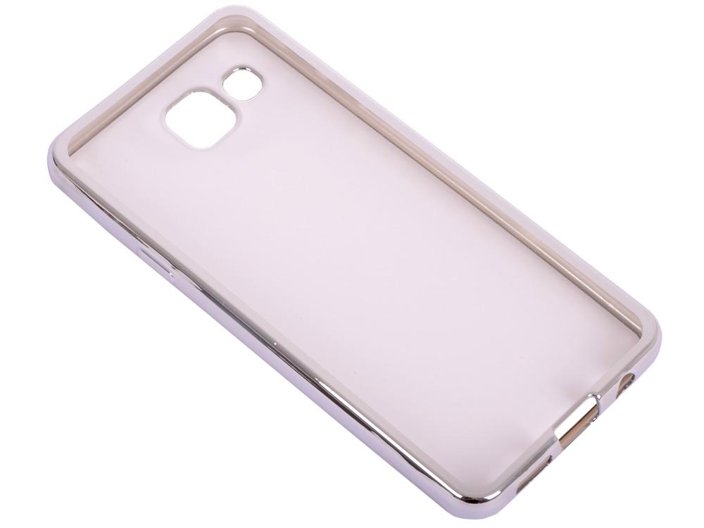 Силиконовый чехол с рамкой для Samsung Galaxy A3 (2016) DF sCase-22 (silver) розовый медведь стиль тиснение классический откидная крышка с функцией подставки и слот для кредитных карт для samsung galaxy a3 2016