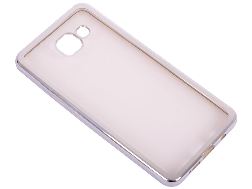 Силиконовый чехол с рамкой для Samsung Galaxy A5 (2016) DF sCase-23 (silver) цена 2017