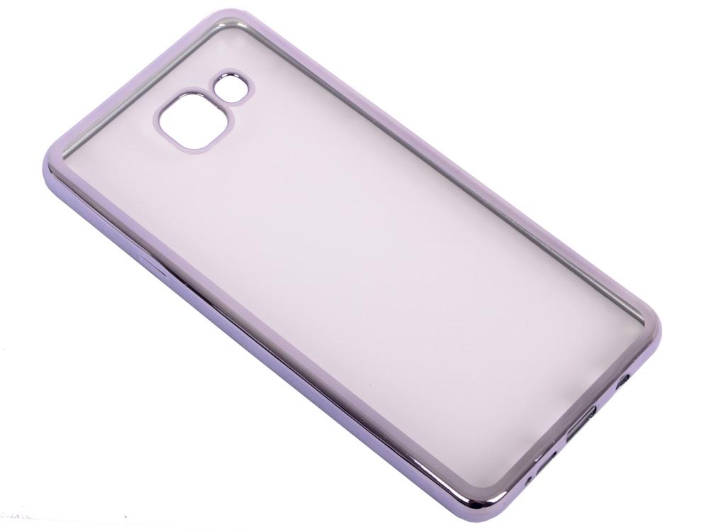 Силиконовый чехол с рамкой для Samsung Galaxy A7 (2016) DF sCase-24 (space gray) силиконовый супертонкий чехол для samsung galaxy a7 2016 df scase 13