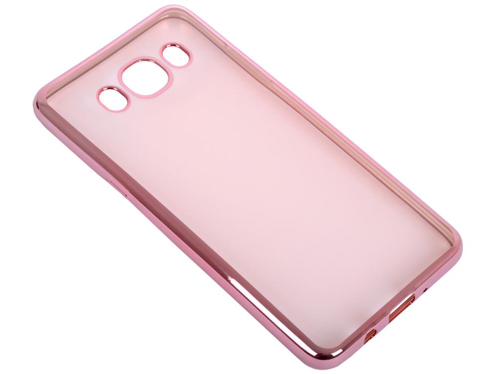 Силиконовый чехол с рамкой для Samsung Galaxy J5 (2016) DF sCase-29 (rose gold)